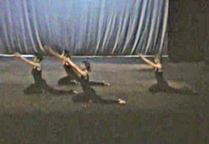 Another early section... a little blurry, but shows some of the choreography.