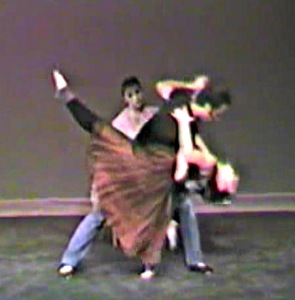 "Where did I get these titles?!? Here I am being ""dipped"" by dancer Christopher Wolters while Andrea looks on."