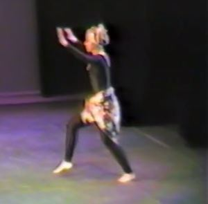 It was the first year we began giving lecture demonstrations. This one was an overview of the world of dance, beginning with African ethnic, demonstrated here by Leslie Addiego.