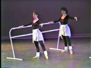 And here, during the lecture demonstration again, are Andrea and Denise demonstrating ballet.